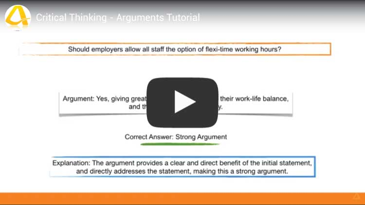 critical thinking arguments tutorial youtube video screenshot
