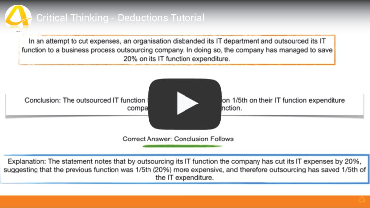 critical thinking deductions tutorial video youtube screenshot