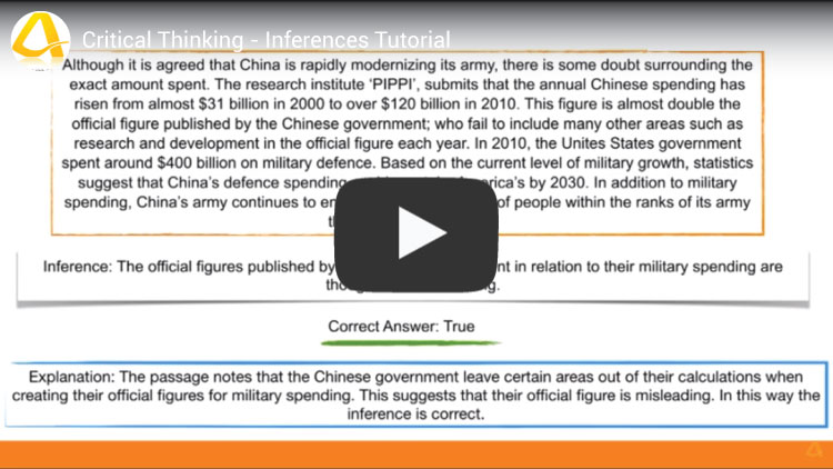 critical thinking inferences tutorial youtube video screenshot