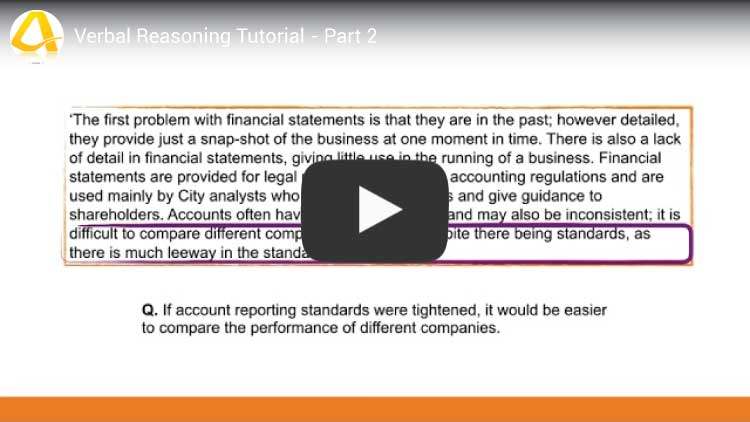 verbal reasoning youtube tutorial video screenshot part 2